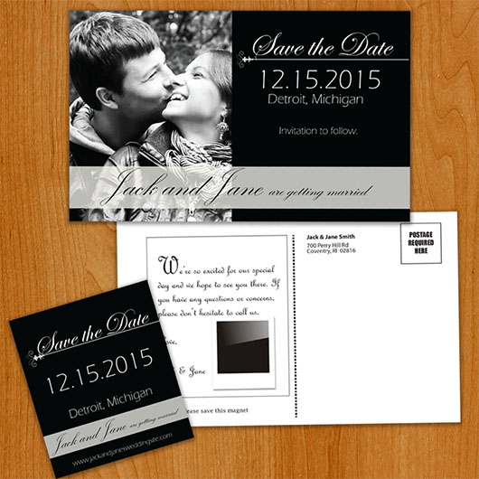 Formal save the date overview