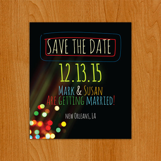 Light Up save the date magnet