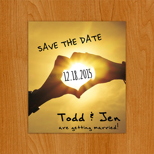Beachside save the date magnet